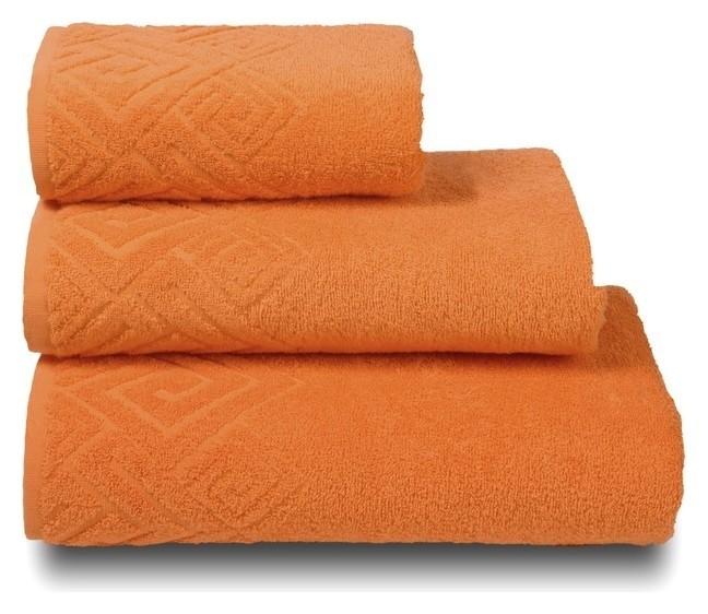 Полотенце махровое «Poseidon» цвет оранжевый, 100х150  Cleanelly