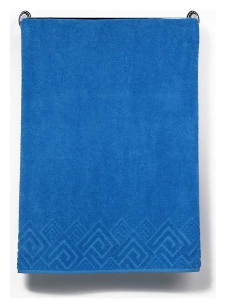 Полотенце махровое «Poseidon» цвет голубой, 70х130  Cleanelly