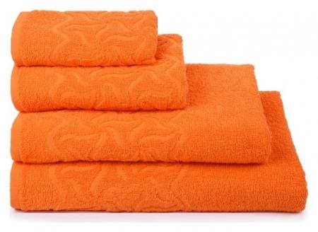 Полотенце махровое «Радуга» цвет оранжевый, 50х90, 305 гр/м  Cleanelly
