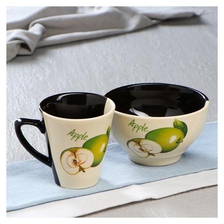 """Набор чайный """"Фрукты"""", пиала 600 мл, кружка 350 мл  Керамика ручной работы"""
