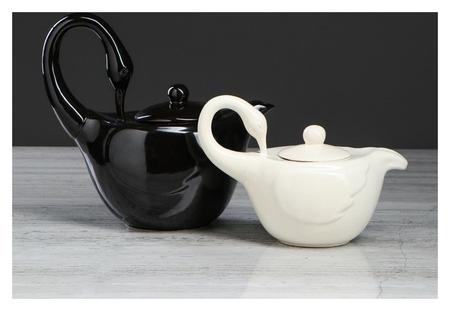 """Чайный набор """"Лебеди"""", 2 предмета: чайник 1 л, сахарница 0.5 л  Керамика ручной работы"""