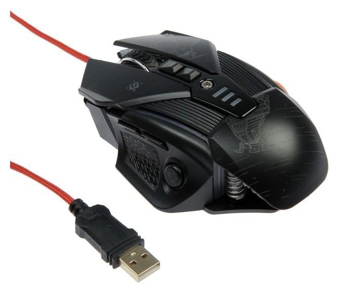 Мышь Defender Starx Gm-390l, игровая, проводная, оптическая, 8 кнопок, 3200 Dpi, чёрная  Defender