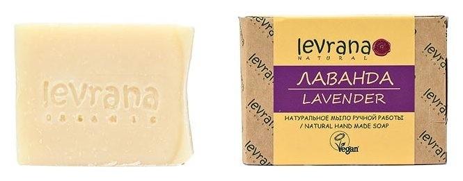 Натуральное мыло ручной работы Лаванда  Levrana