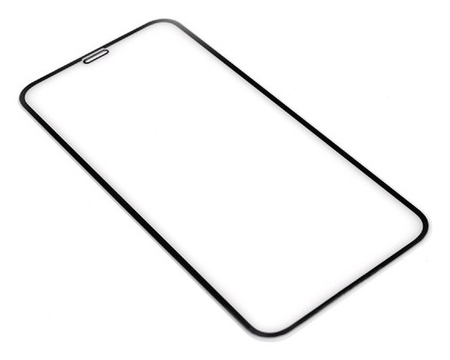Защитное стекло Innovation 2D для Apple Iphone Xr/11, полный клей, черная рамка  Innovation