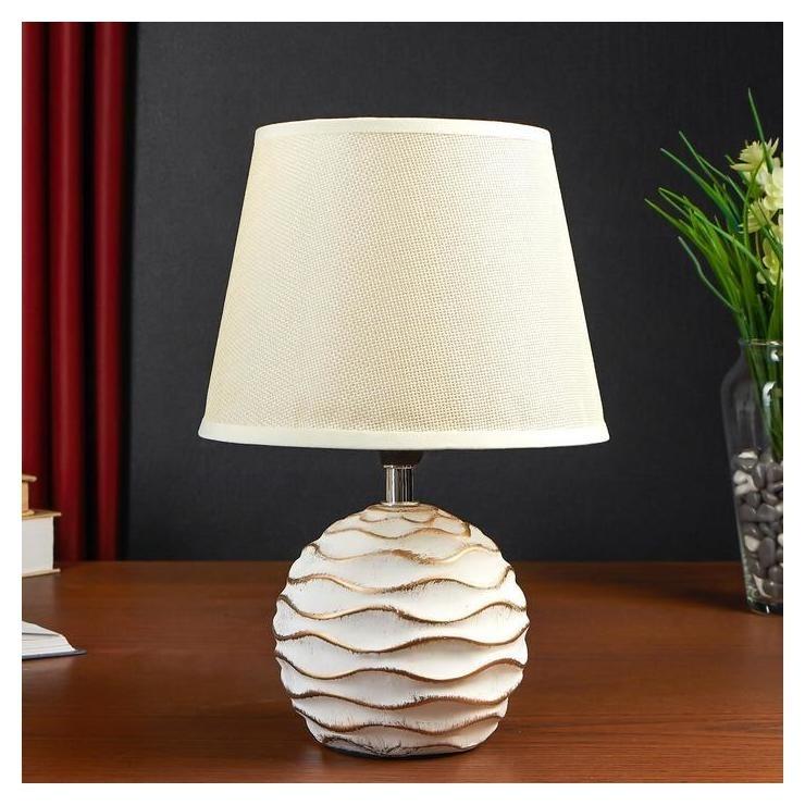 Лампа настольная 38036/1 E14 40вт белый с золотой патиной 19,5х19,5х29 см КНР
