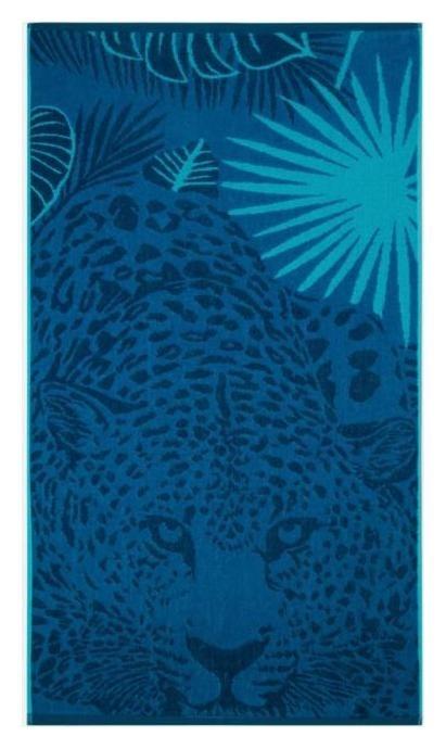 Полотенце махровое «Hunter» цвет синий, 70х130 см, 460г/м2  Cleanelly