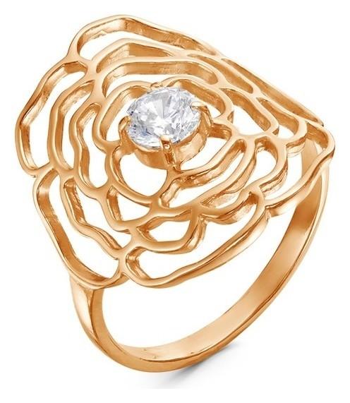 """Кольцо """"Роза"""" ажур, позолота, цвет белый, 18 размер  Красная пресня"""
