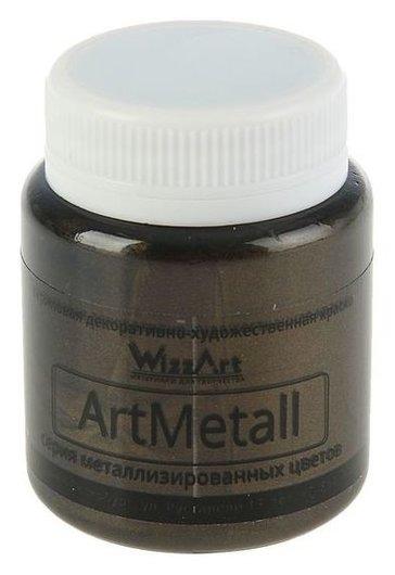 Краска акриловая Metallic 80 мл Wizzart золото черное металлик Wm14.80  WizzArt