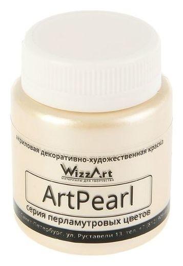 Краска акриловая Pearl, 80 мл, Wizzart, слоновая кость, перламутровый  WizzArt