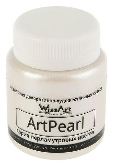 Краска акриловая Pearl 80 мл Wizzart белый перламутровый Wr1.80  WizzArt
