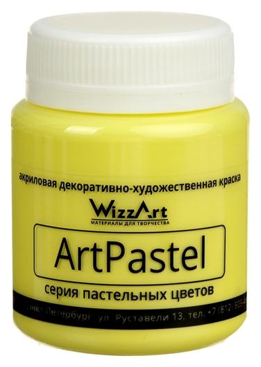 Краска акриловая Pastel 80 мл Wizzart желтый лимон пастельный  WizzArt