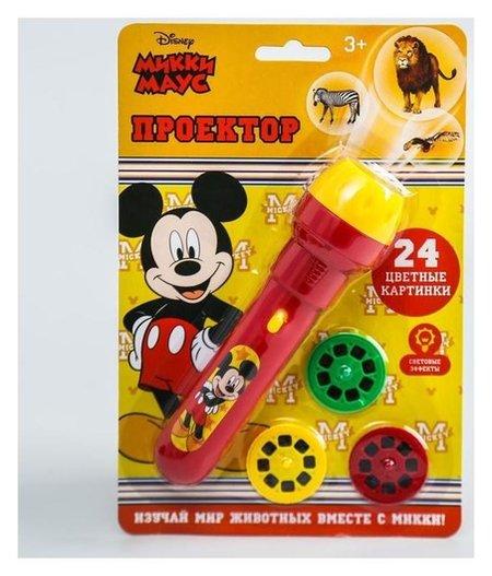 Проектор-фонарик, микки маус, световые эффекты, батарейки в набор не входят  Disney