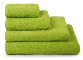 Полотенце махровое радуга,70х130 см, цвет зелёный  Cleanelly