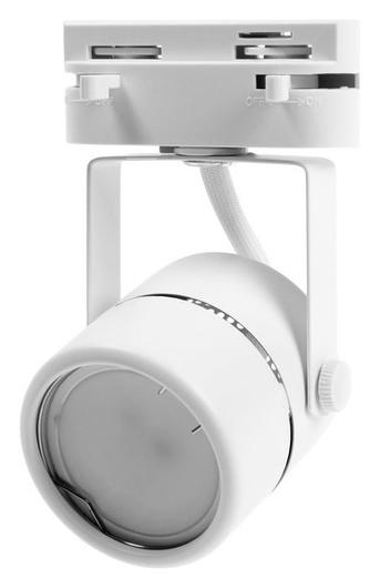 Трековый светильник Luazon Lighting под лампу Gu5.3, круглый, корпус белый  LuazON