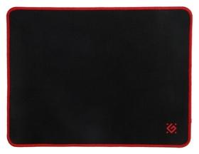 Коврик для мыши Defender Black M, игровой, 360x270x3 мм, чёрно-красный Defender