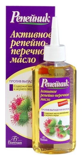 """Активное репейно-перечное масло """"Репейник""""  Флоресан (Floresan)"""