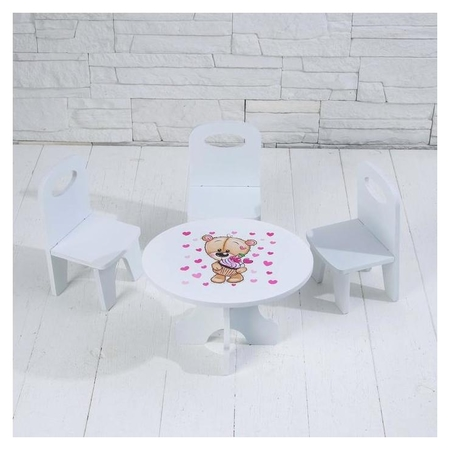 Набор стол+стулья «Сладкоежка» серия «мишутки»  Коняша