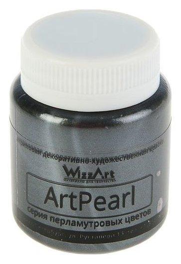 Краска акриловая Pearl 80 мл Wizzart черный перламутровый Wr2.80  WizzArt