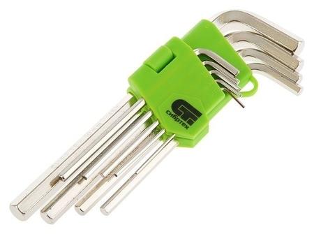 """Набор ключей имбусовых """"Сибртех"""", 1,5–10 мм, 45x, закаленные, 9 шт., удлиненные  Сибртех"""