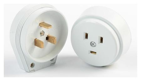Разъем для плиты Smartbuy рш-вш, 2p+pe, ОУ, 32 А, 250 В, пластик, белый  Smartbuy
