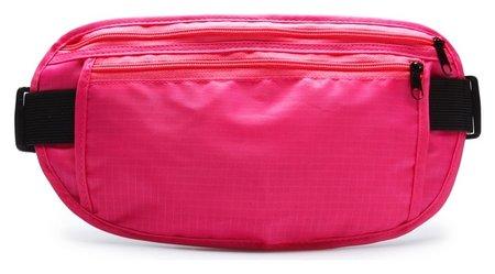 Сумка спортивная на пояс 25х13 см, цвет розовый  Onlitop