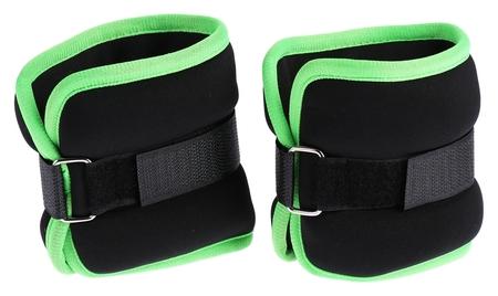 Утяжелитель неопреновый 0,5 кг (Вес пары 1 кг), цвет чёрный/зелёный  Onlitop