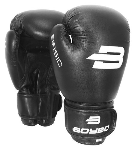 Перчатки боксёрские Boybo Basic к/з, 12 OZ, цвет черный  Boybo