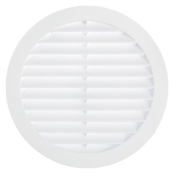 Решетка Tdm, круглая, с москитной сеткой, с фланцем D=125 мм, внешняя D=150 мм, белая  TDM Еlectric