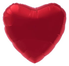 """Шар фольгированный 30"""", сердце, цвет красный  Agura"""