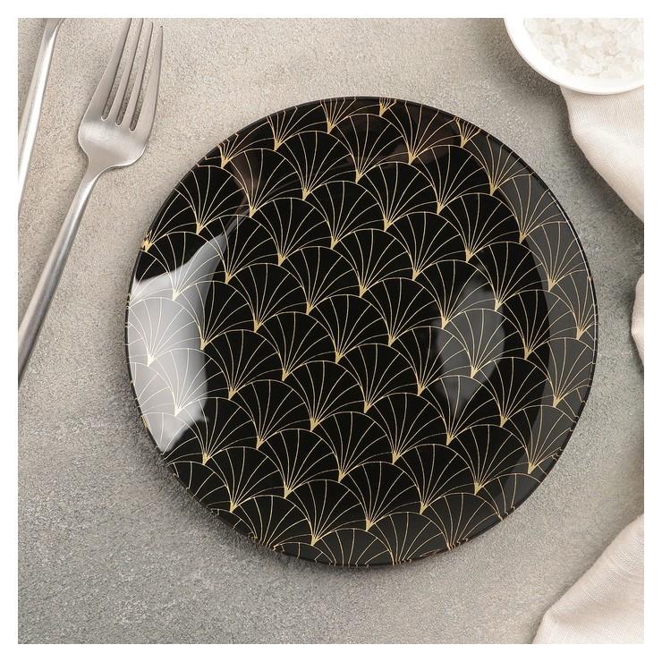 Тарелка пирожковая «Золотое перо», 18х1,6 см  Доляна