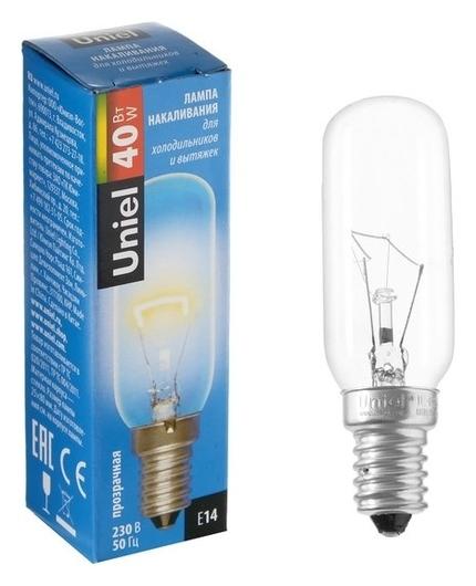 Лампа накаливания для холодильников и вытяжки Uniel, 40 Вт, е14, 3000 К.  Uniel