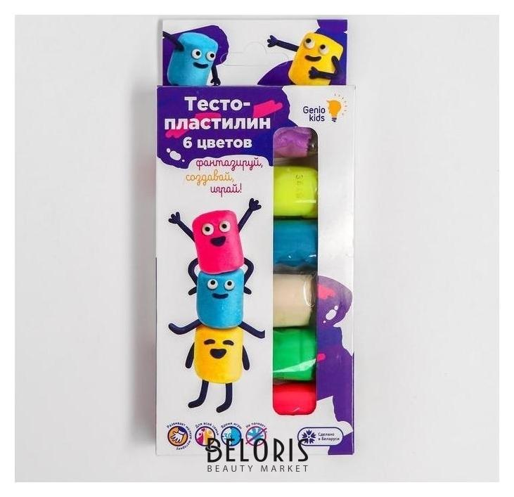 Тесто-пластилин 6 цветов Ta1090 Genio Kids