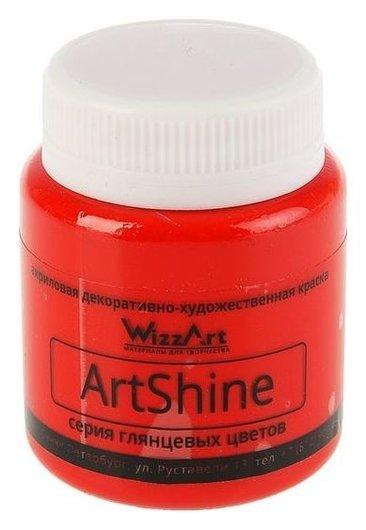 Краска акриловая Shine 80 мл Wizzart ярко-красный глянцевый Wg20.80  WizzArt
