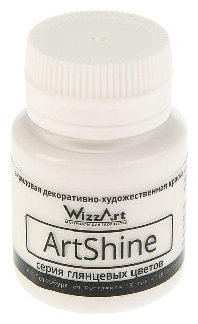 Краска акриловая Shine, 20 мл, Wizzart, белый глянцевый  WizzArt
