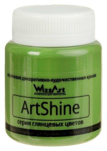 Краска акриловая Shine 80 мл Wizzart зеленый окись-хрома  WizzArt