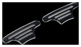Пяткоудерживатели для обуви, на клеевой основе, силиконовые, 10 × 4,5 см, пара, цвет прозрачный  Onlitop