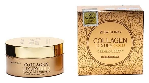 Патчи для глаз гидрогелевые с коллагеном и коллоидным золотом Collagen Luxury Gold Hydrogel Eye & Spot Patch  3W CLINIC