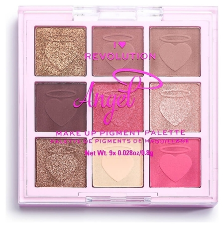 Палетка пигментов для лица Angel Make Up Pigment Palette  I Heart Revolution
