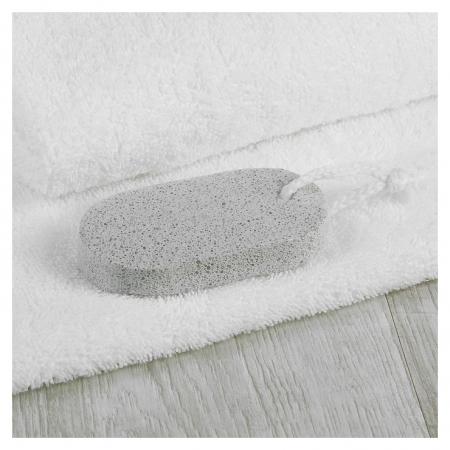 Пемза для педикюра, 9 × 4,5 см, цвет белый NNB