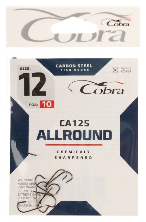 Крючки Cobra Allround серия Ca125 №12, 10 шт.  Cobra