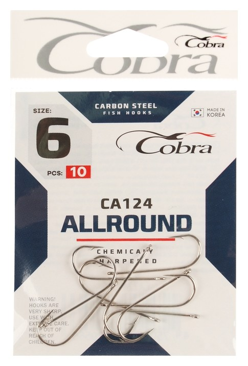 Крючки Cobra Allround серия Ca124 №6, 10 шт.  Cobra