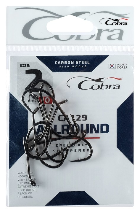 Крючки Cobra Allround серия Ca129 №2, 10 шт.  Cobra
