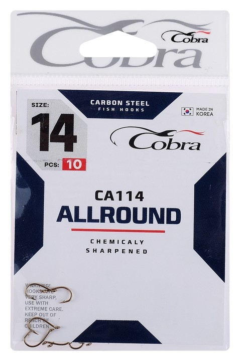 Крючки Cobra Allround серия Ca114 №14, 10 шт.  Cobra