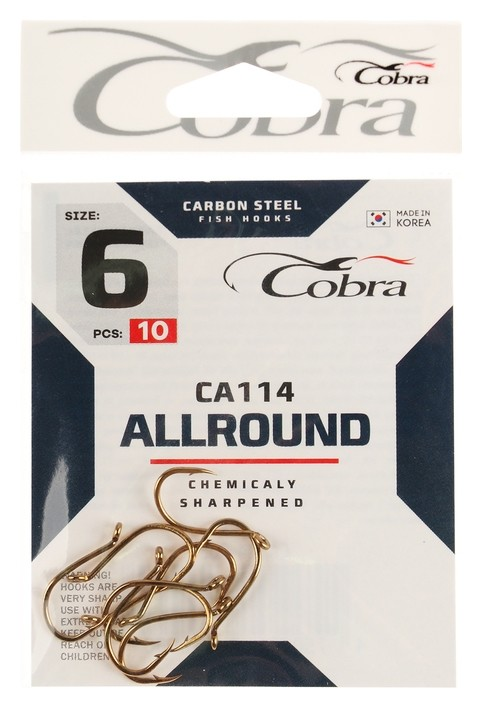 Крючки Cobra Allround серия Ca114 №6, 10 шт.  Cobra
