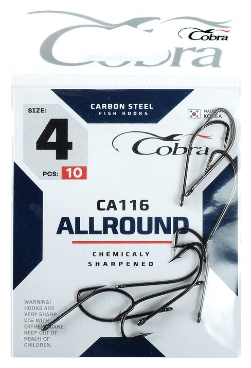 Крючки Cobra Allround серия Ca116 №4, 10 шт.  Cobra