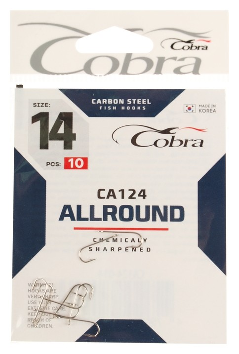 Крючки Cobra Allround серия Ca124 №14, 10 шт.  Cobra