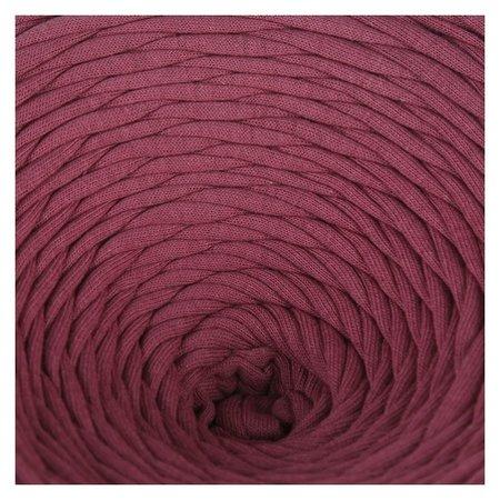 Пряжа трикотажная лицевая 100м/330гр, ширина нити 7-8 мм (Сухая роза)  Елена и Ко