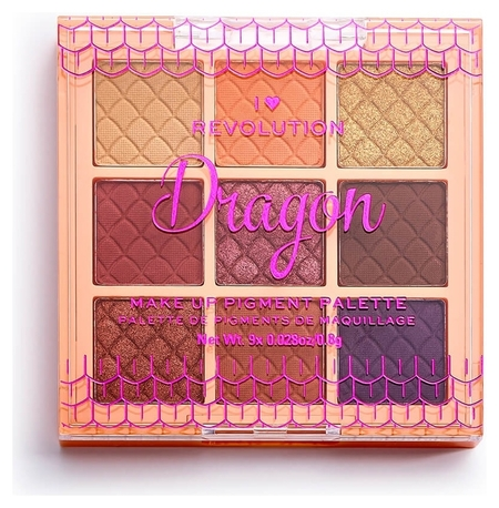 Палетка пигментов для лица Dragon Make Up Pigment Palette  I Heart Revolution