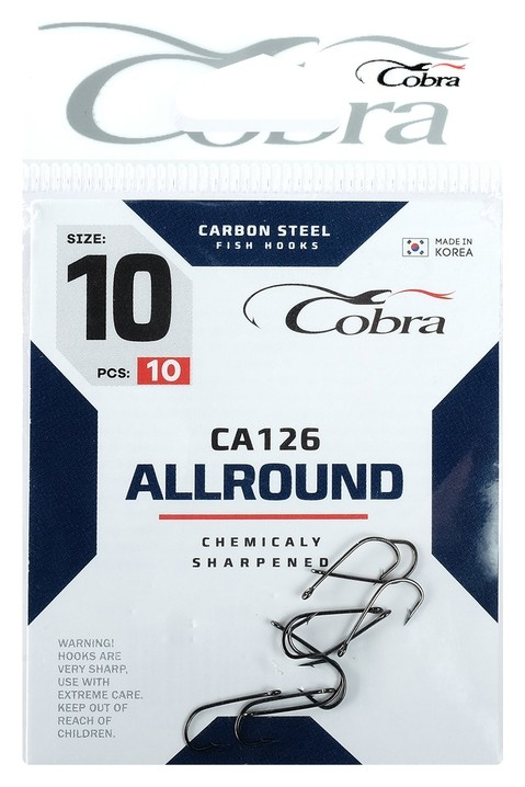 Крючки Cobra Allround Ca126-10, 10 шт.  Cobra