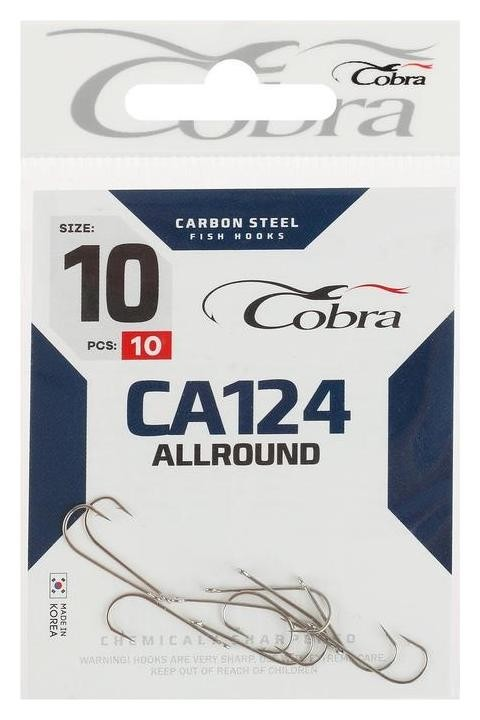 Крючки Cobra Allround Ca124-10, 10 шт.  Cobra